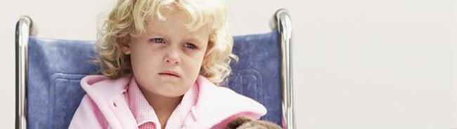 Image of sick child.