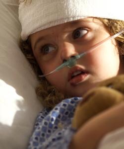 Image of child sick with pneumonia